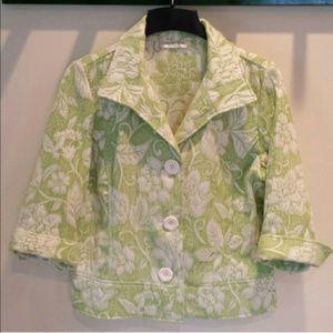 Coldwater Creek Brocade Tapestry 3/4 Sleeve Jacket